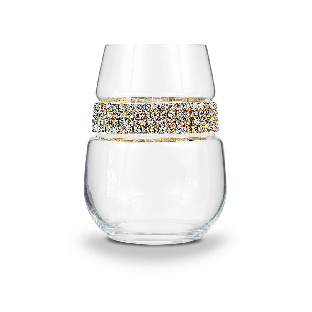 Gold Stemless Wine Glass | Stemless Wines Glasses | Shimmering Wines