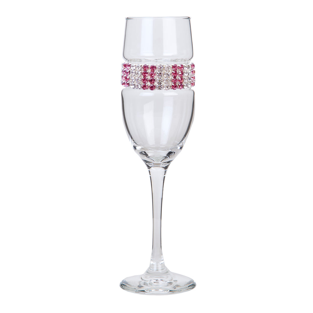 Pink Ice Champagne Flute | Champagne Flutes | Shimmering Wines