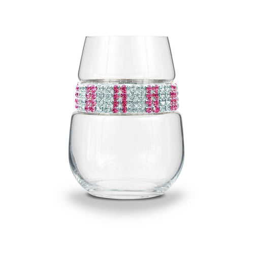Pink Ice Stemless Wine Glass | Stemless Wine Glasses | Shimmering Wines