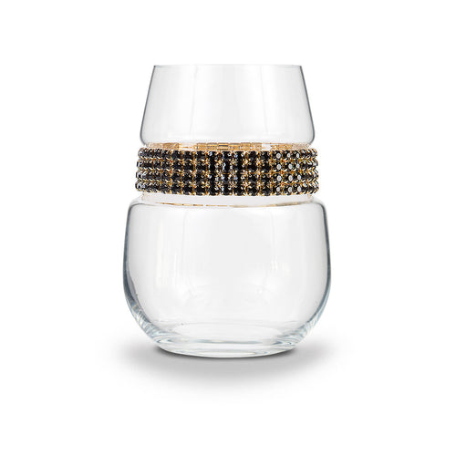 Raven Gold Stemless Wine Glass | Stemless Wine Glasses | Shimmering Wines
