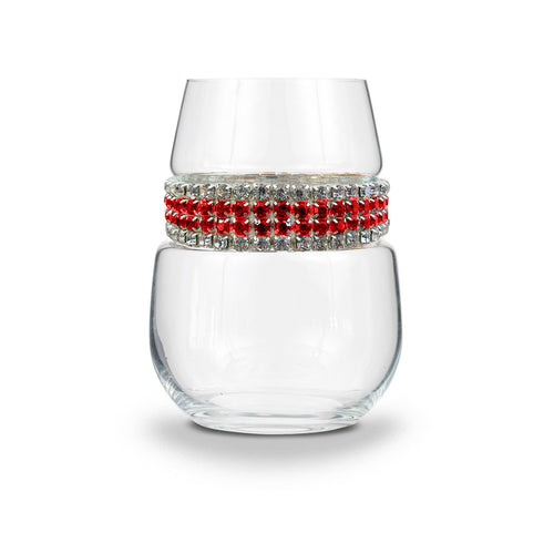 Red Carpet Stemless Wine Glass | Stemless Wine Glasses | Shimmering Wines