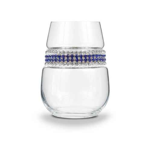 Santorini Stemless Wine Glass | Stemless Wine Glasses | Shimmering Wines