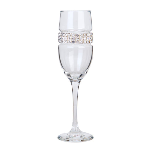 Silver Champagne Flute | Champagne Flutes | Shimmering Wines