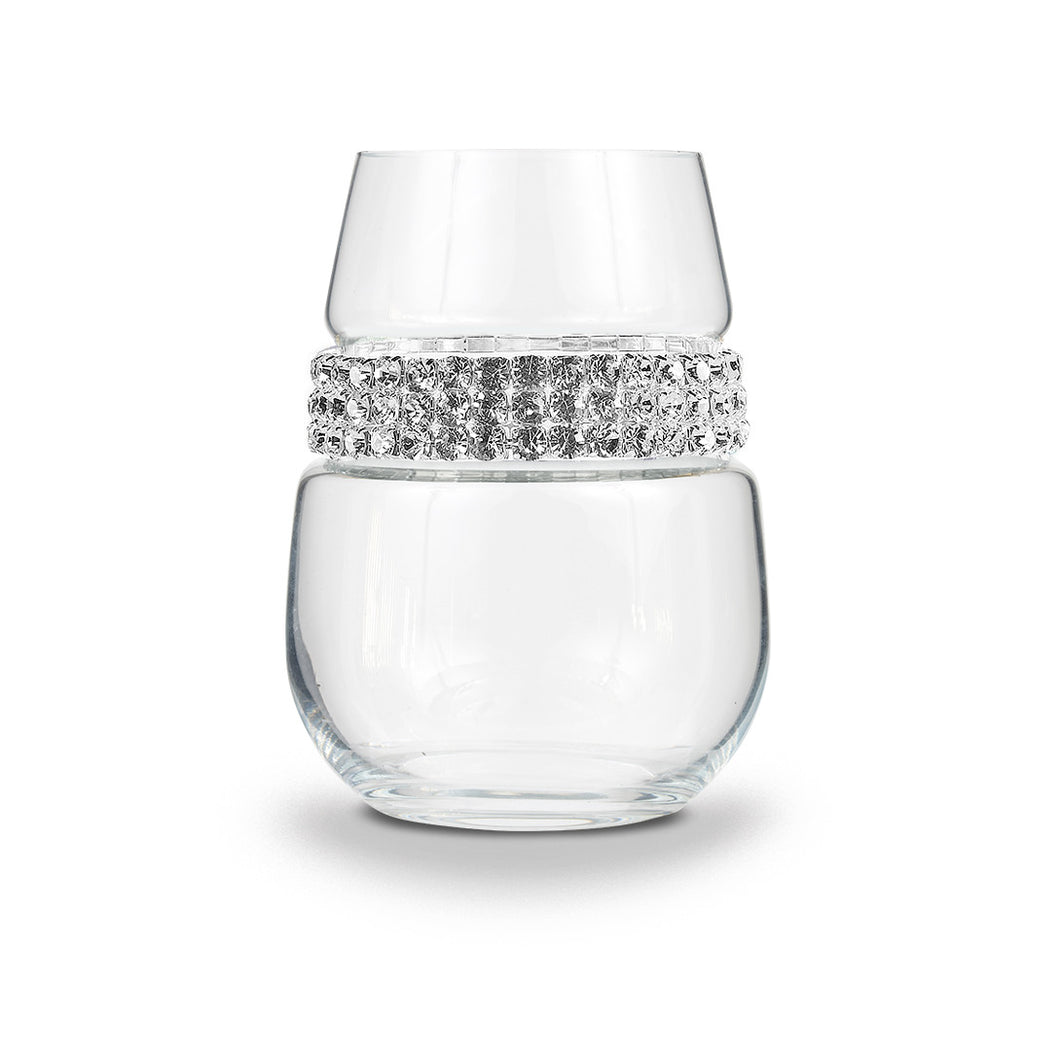 Silver Stemless Wine Glass | Stemless Wine Glasses | Shimmering Wines