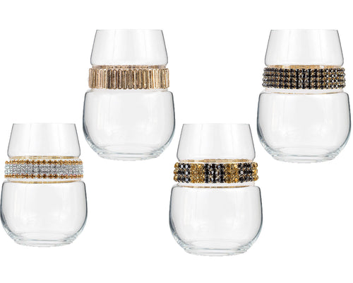 Gold Stemless Party Pack (4)