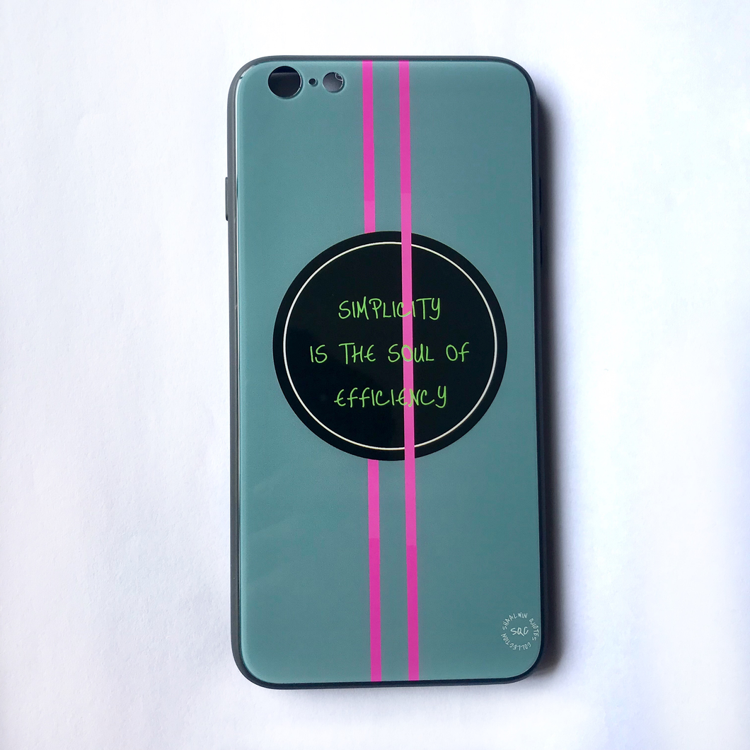 'Simplicity Is The Soul Of Efficiency' - iPhone 6/6s Plus case