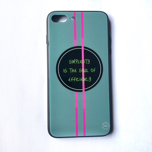'Simplicity Is The Soul Of Efficiency' - iPhone 7/8 Plus case