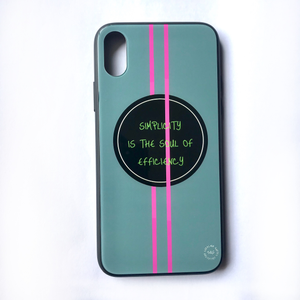 'Simplicity Is The Soul Of Efficiency' - iPhone X case
