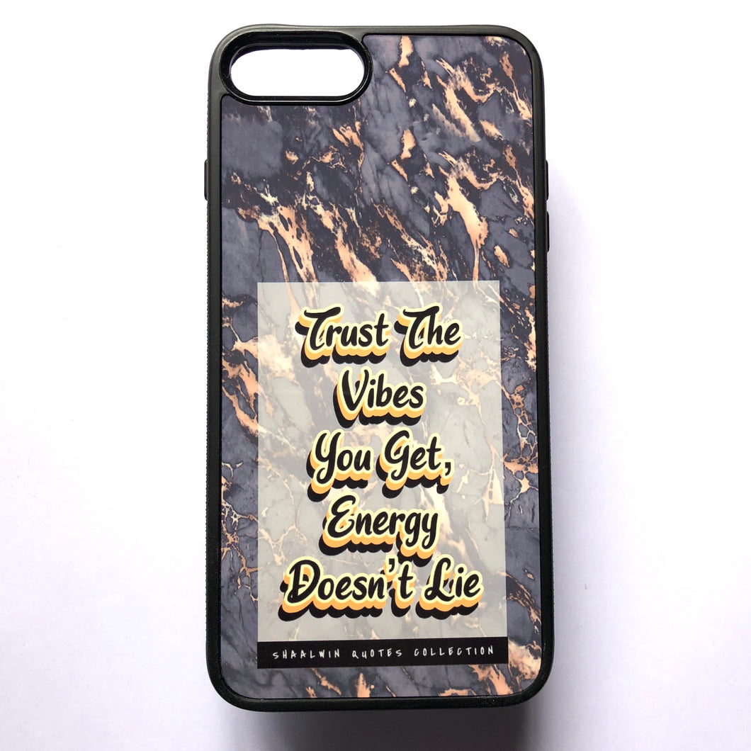 """Trust The Vibes You Get, Energy Doesn't Lie"" // Melted Honey Marble - iPhone 7/8 Plus case"