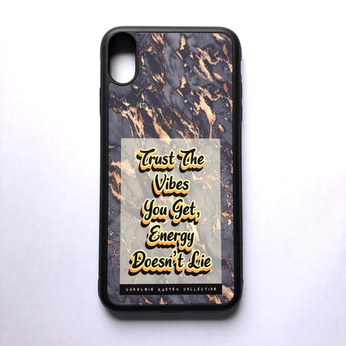 """Trust The Vibes You Get, Energy Doesn't Lie"" // Melted Honey Marble - iPhone XS Max case"