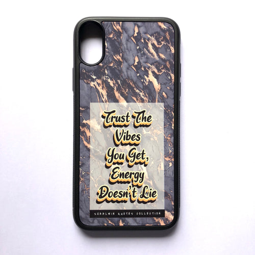 """Trust The Vibes You Get, Energy Doesn't Lie"" // Melted Honey Marble - iPhone XS case"