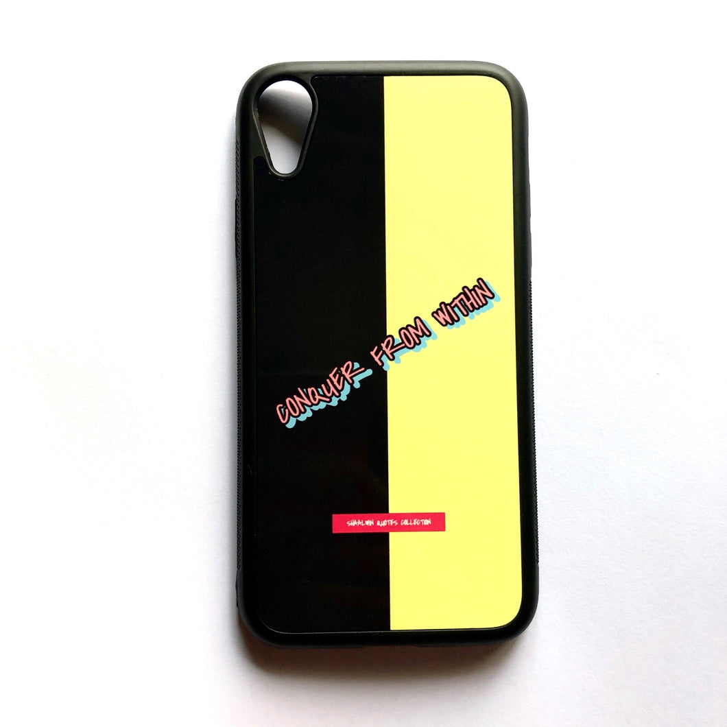 """Conquer From Within"" - iPhone XR case"