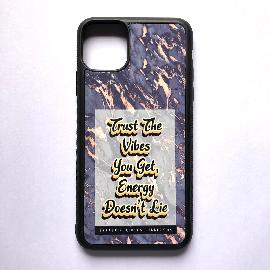 """Trust The Vibes You Get, Energy Doesn't Lie"" // Melted Honey Marble - iPhone 11 Pro Max case"