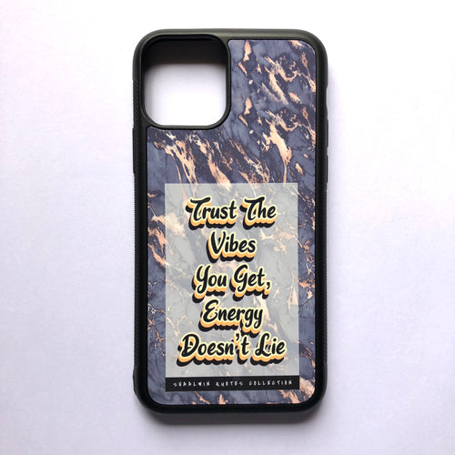 """Trust The Vibes You Get, Energy Doesn't Lie"" // Melted Honey Marble - iPhone 11 Pro case"