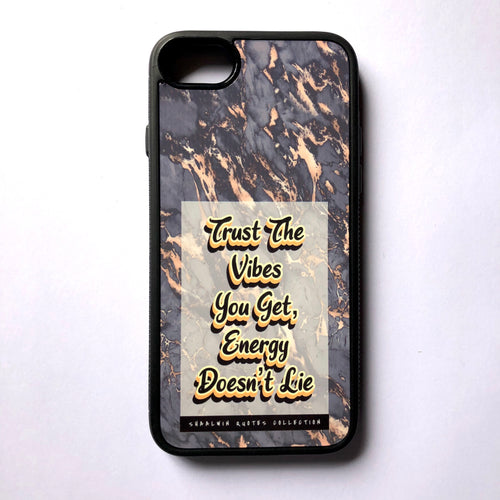 """Trust The Vibes You Get, Energy Doesn't Lie"" // Melted Honey Marble - iPhone 7/8 case"