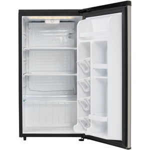 DAR033A6BSLDB - Danby 3.3 CF Refrigerator Black and Stainless Look - Open Door Empty - Danby Appliances
