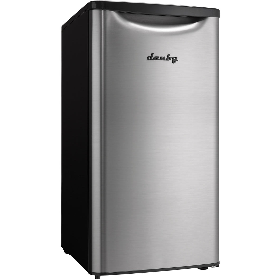 DAR033A6BSLDB - Danby 3.3 CF Refrigerator Black and Stainless Look - Front Shot - Danby Appliances