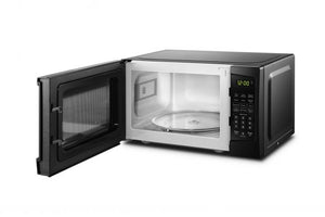 DBMW0720BBB- Danby 0.7 cuft Black Microwave - Front Open , left angled empty