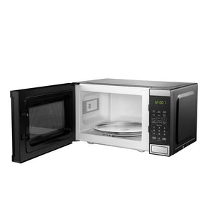 DBMW0721BBS- Danby 0.7 cuft Microwave with Stainless Steel front - front facing door open empty