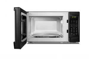 DBMW0920BBB- Danby 0.9 cuft Black Microwave - front facing view with door open and empty