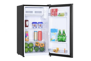 DCR033B1SLM - Danby Diplomat 3.3 cu. ft. Compact Refrigerator - open fridge with products inside