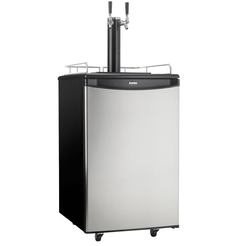 DKC054A1BSL2DB - Danby 5.4 CF Keg Cooler Dual Tap - Danby Appliances
