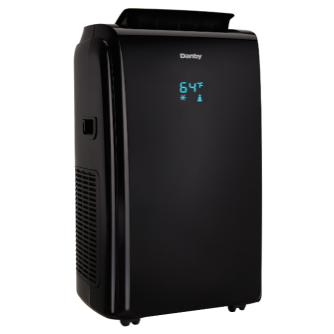 DPA140HEBUBDB - Danby 14000 BTU Portable Air Conditioner with Heater Black - Danby Appliances