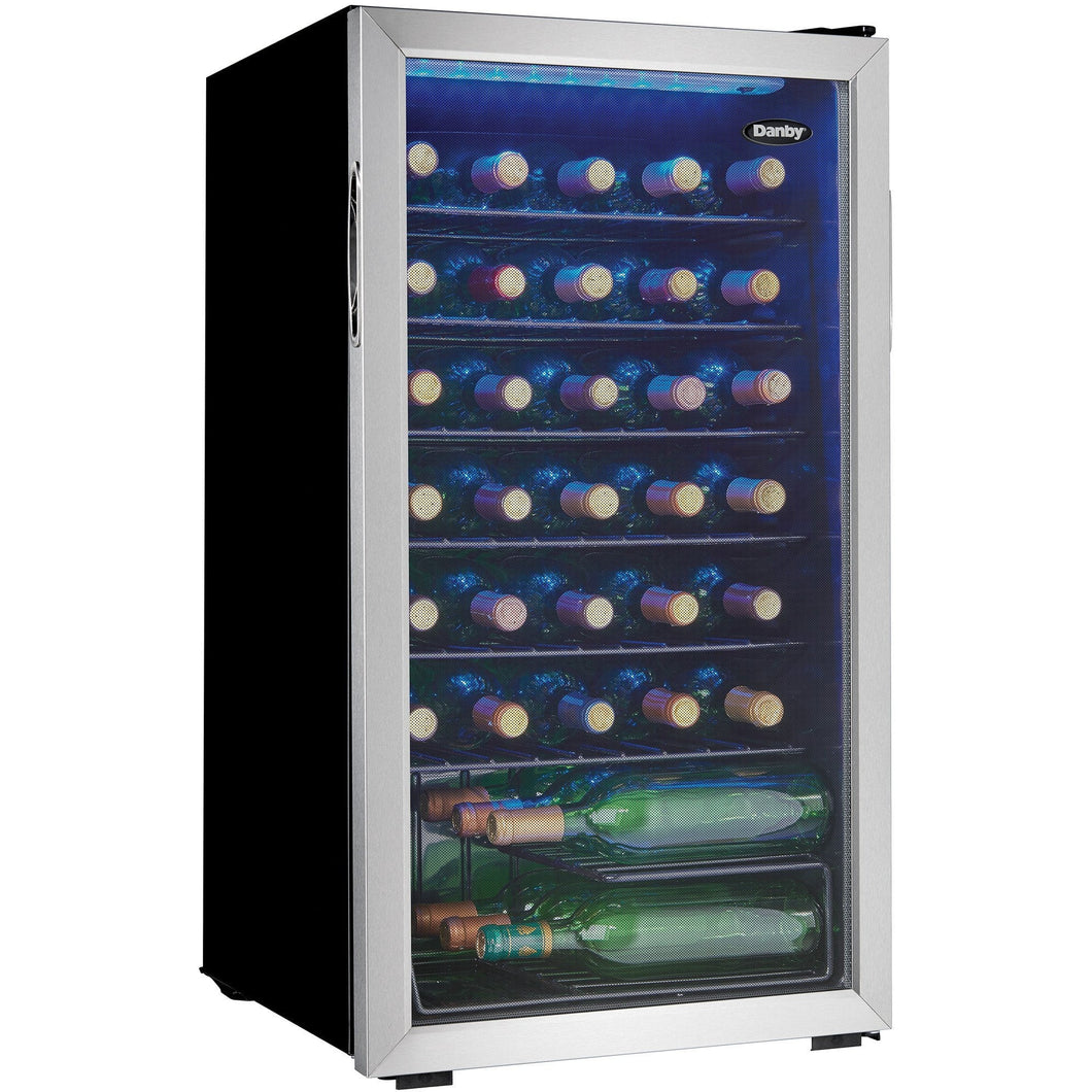 DWC93BLSDB - Danby 36 Bottle Wine Cooler - Danby Appliances