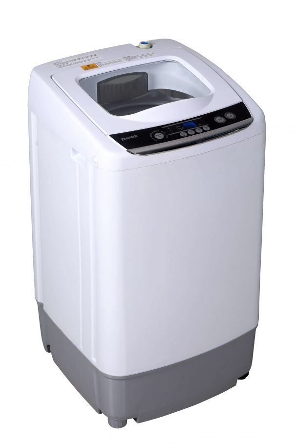 DWM030WDB-6 - Danby Compact 0.9 Cubic Foot Top Load Washing Machine For Apartment - White - Top Angle Shot