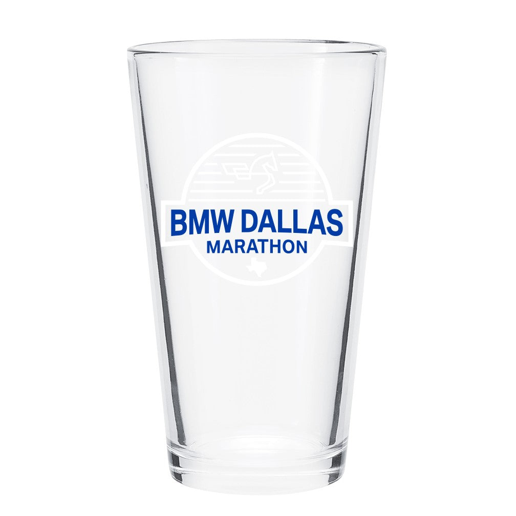 BMW Dallas Marathon Pint Glass