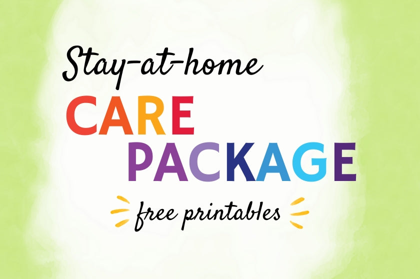 Stay-At-Home Free Printable Care Package
