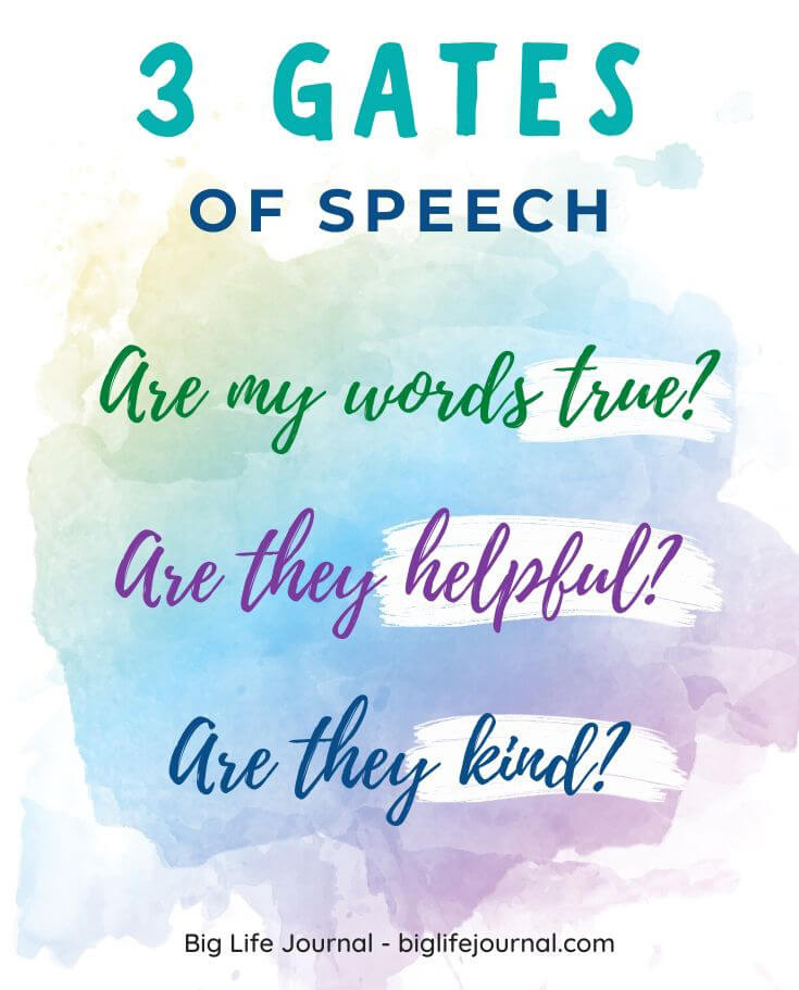 3 Gates technique of speech