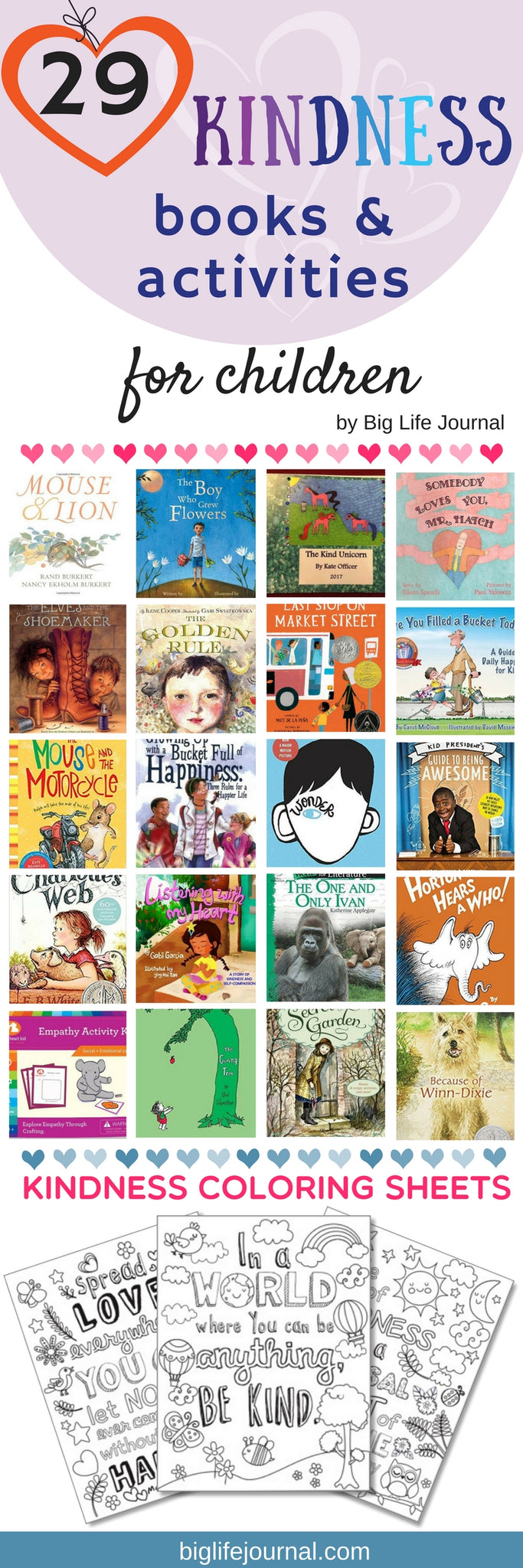 A must-have list of kindness books and activities which promote kindness and empathy in children.