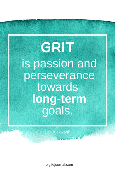 grit is passion and perseverance towards long-term goals