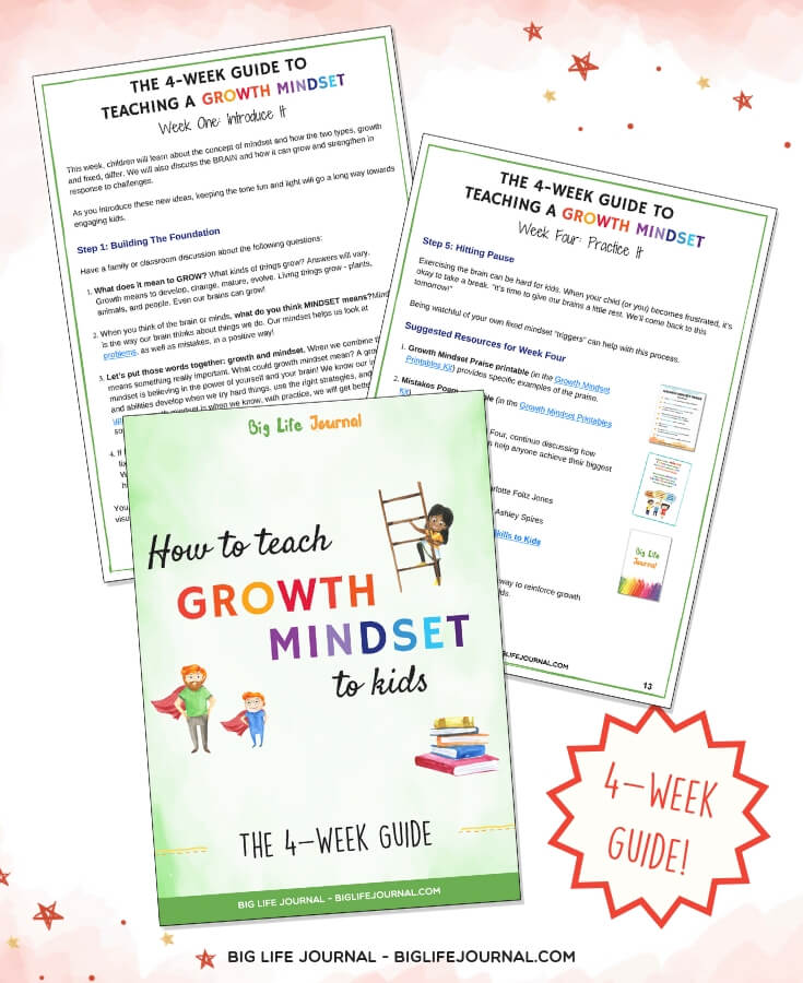 4 week guide growth mindset