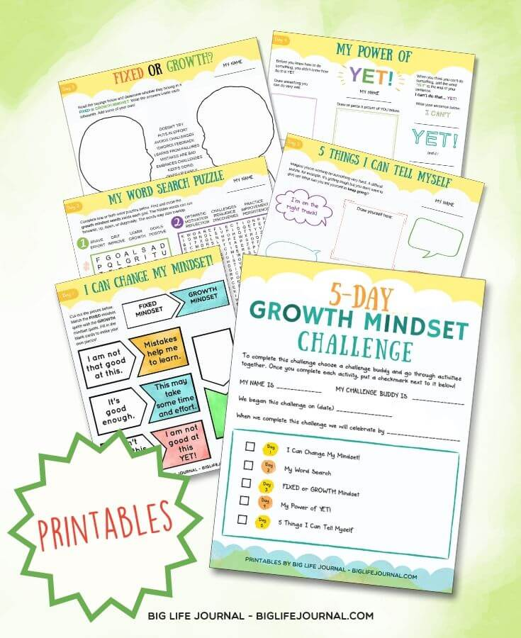 5-Day Growth Mindset Challenge (Challenges Kit)