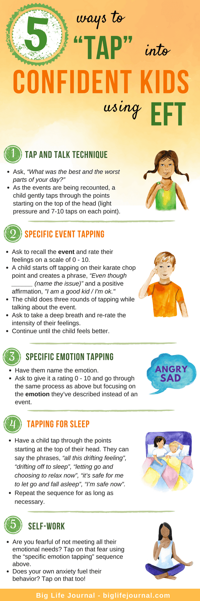 5 ways Tap Confident Kids EFT - big life journal