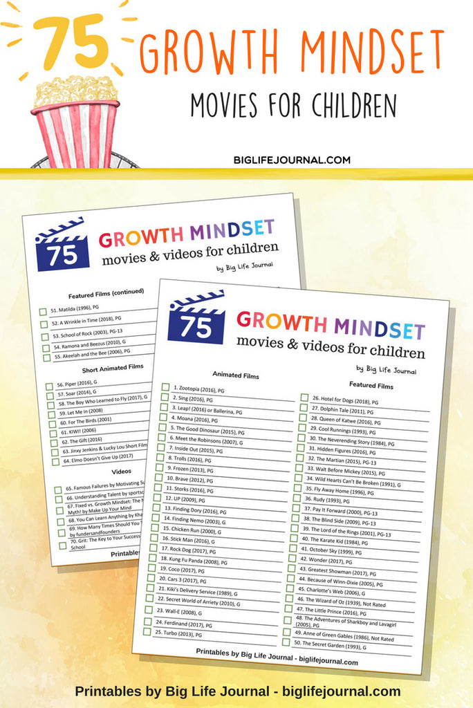 Top 75 Growth Mindset Movies for Children – Big Life Journal