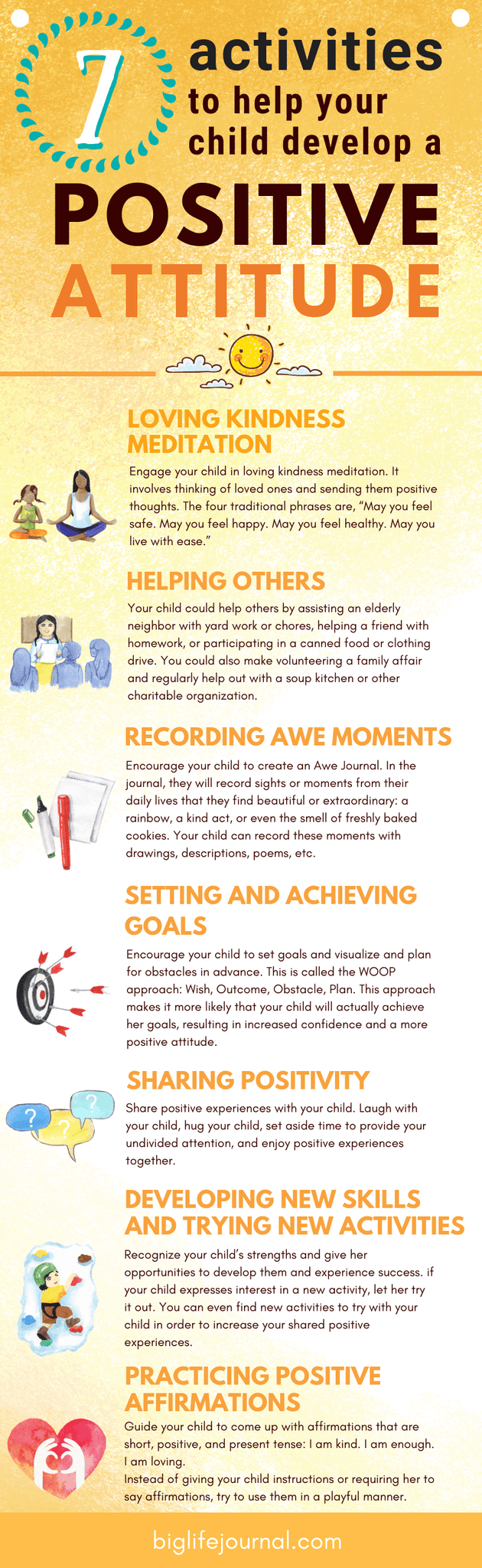 7 Activities to Help Your Child Develop a Positive Attitude