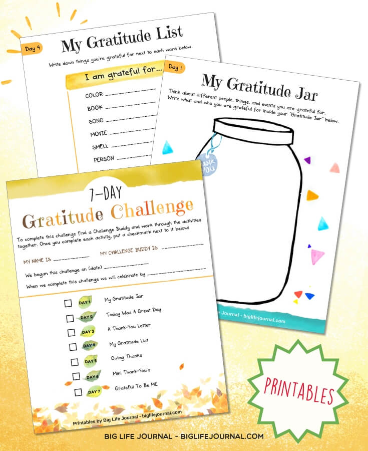 7 Day Gratitude Challenge - Big Life Journal