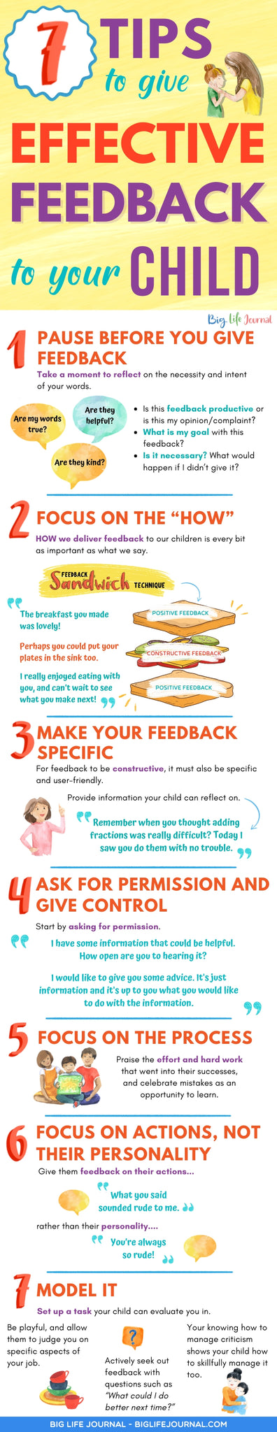 7 Tips to Give Effective Feedback to Your Child