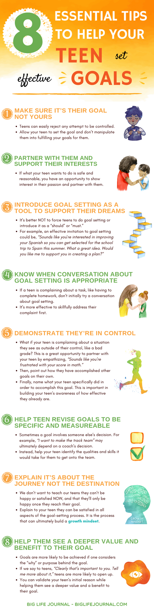 goal-setting teens activities templates tips