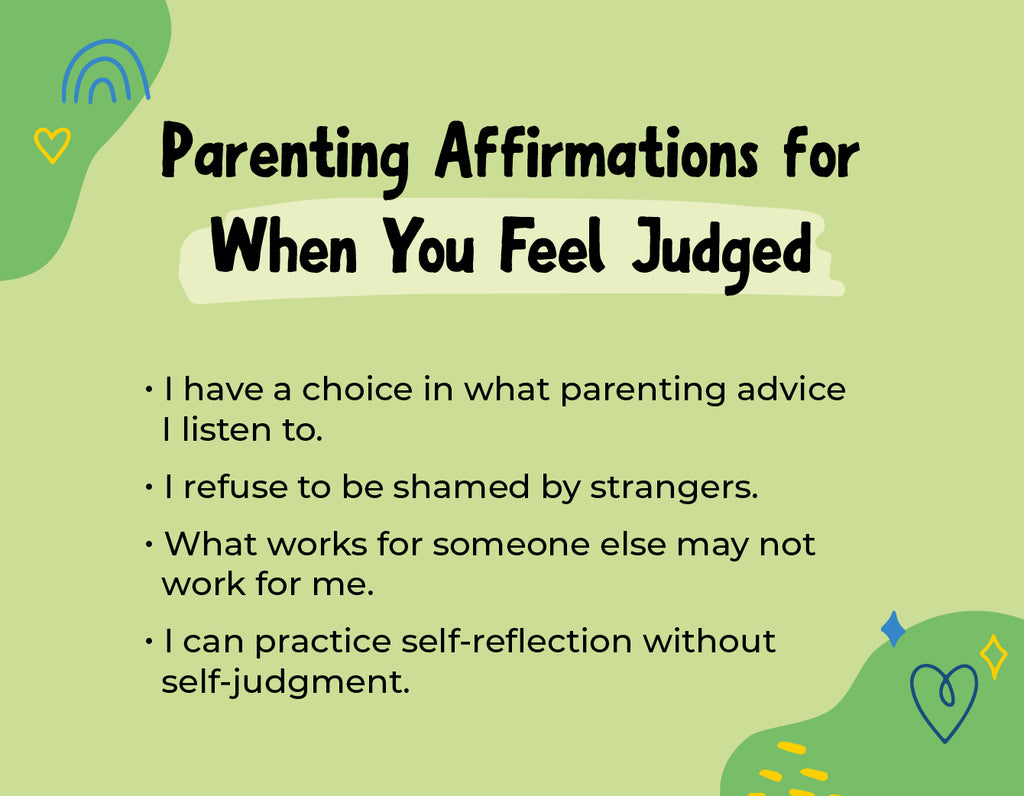 Parenting Affirmations When You Feel Judged