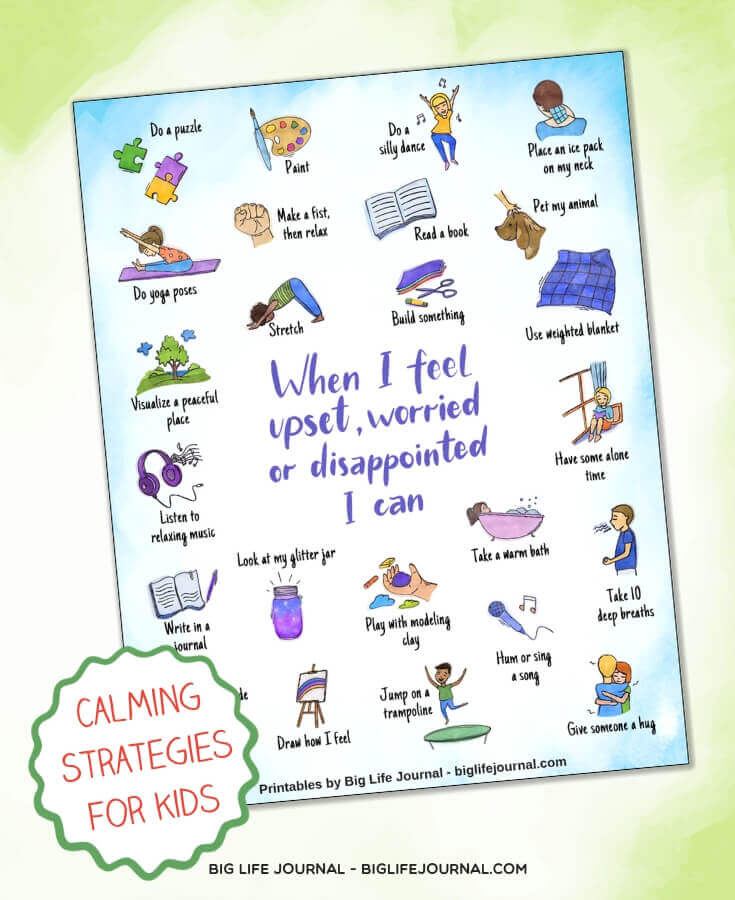 My Strategies to Feel Calm poster - Resilience Kit PDF