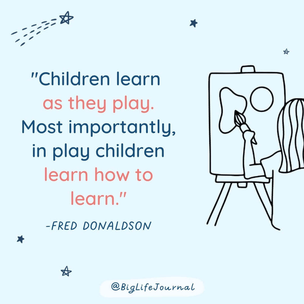 Children learn as they play. Most importantly, in play children learn how to learn.