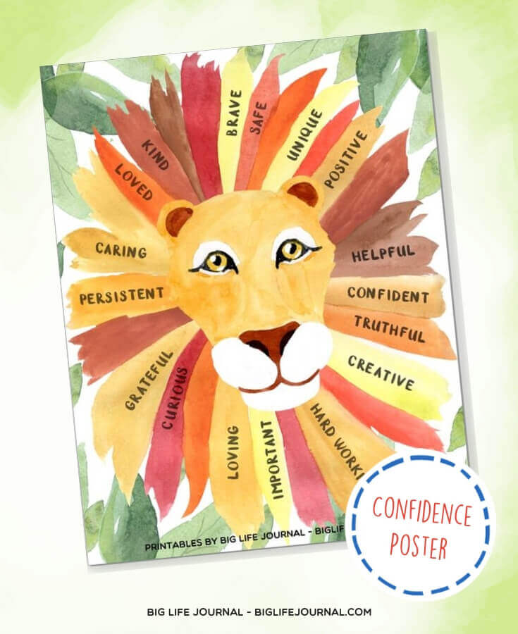 Confidence Lion Poster