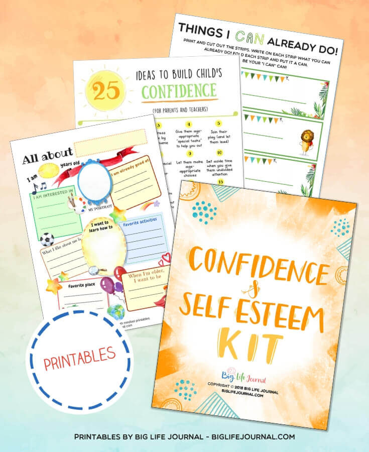Confidence & Self Esteem PDF Kit