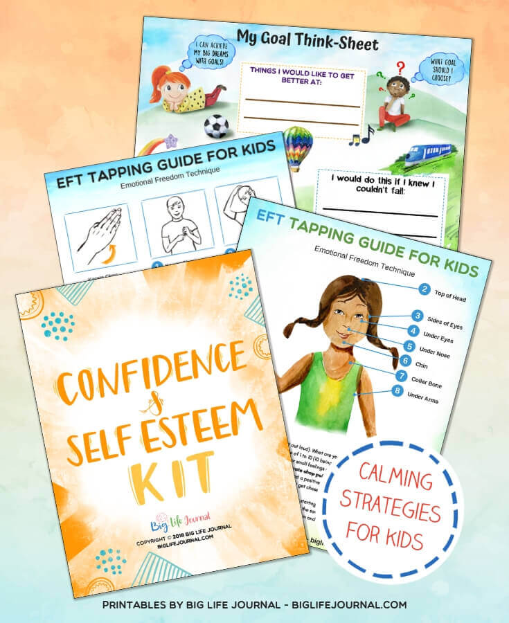 Confidence & Self-Esteem Kit - goal sheet and EFT