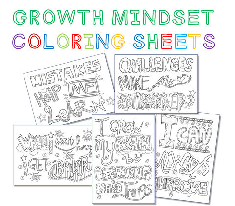 Beautiful Growth Mindset Coloring Sheets Kids