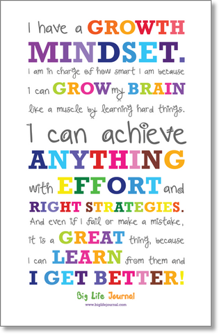 Growth Mindset poster for children